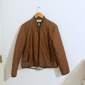 J. McLaughlin • Quilted Zip Up Jacket Silk